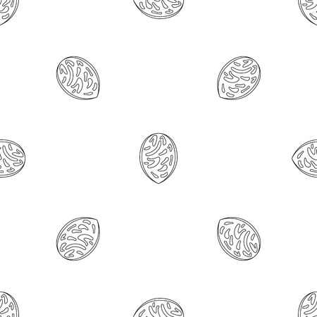 Peach seed pattern seamless vector repeat geometric for any web design