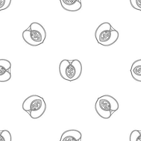 Half peach pattern seamless vector repeat geometric for any web design Imagens - 124588995