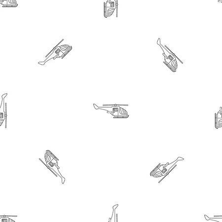 Military helicopter pattern seamless vector illustration Vector Illustratie