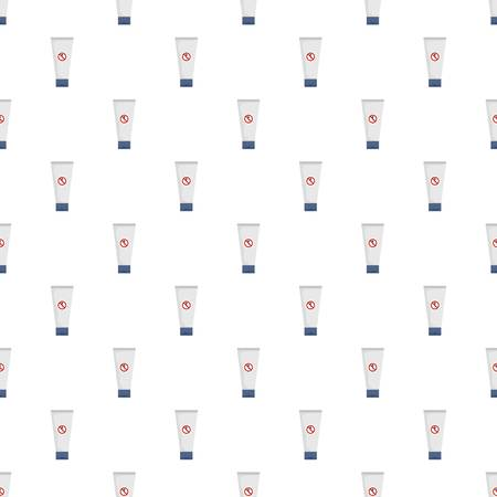 Spermicide tube pattern seamless vector illustration