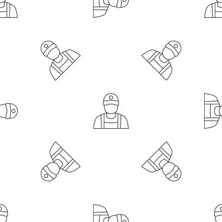 Petrol station man pattern seamless vector repeat geometric for any web design