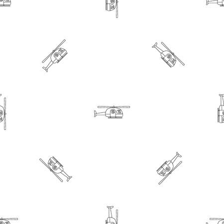Ambulance helicopter pattern seamless vector repeat geometric for any web design Illustration