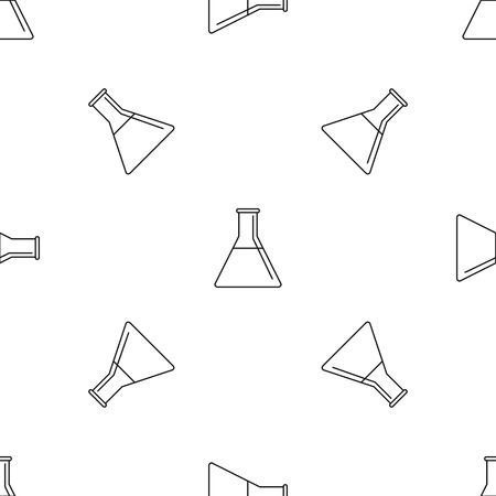 Petrol flask pattern seamless vector repeat geometric for any web design Imagens - 124589007