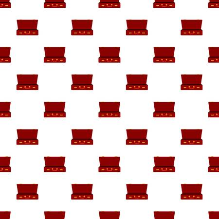 Leather suitcase pattern seamless vector repeat for any web design