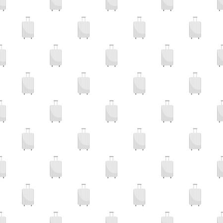 White travel bag pattern seamless vector repeat for any web design