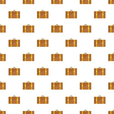 Retro suitcase pattern seamless vector repeat for any web design Imagens - 124589019