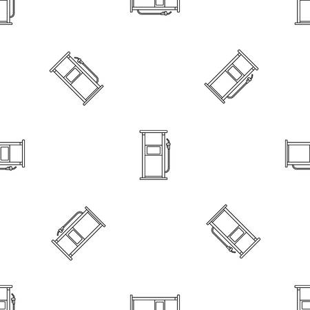 Fuel refill stand pattern seamless vector repeat geometric for any web design Ilustración de vector