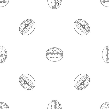 Hamburger pattern seamless vector repeat geometric for any web design
