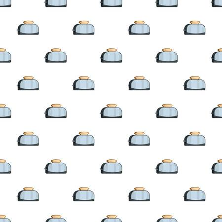 Metal toaster pattern seamless vector repeat for any web design