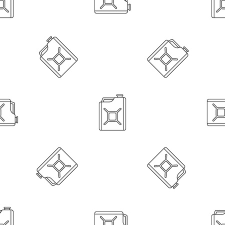 Gas canister pattern seamless vector illustration