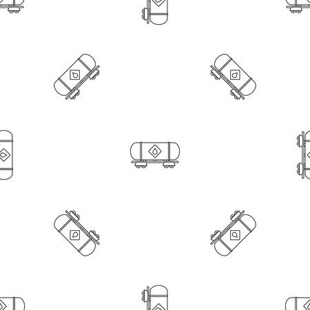 Petrol wagon pattern seamless vector illustration