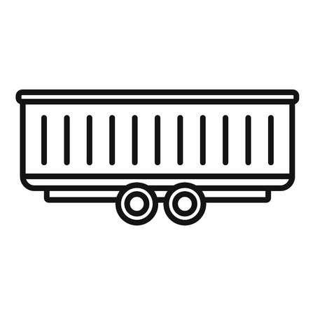 Farm wheat trailer icon. Outline farm wheat trailer vector icon for web design isolated on white background