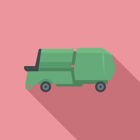 Farm machine icon. Flat illustration of farm machine vector icon for web design