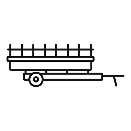 Farm harvester trailer icon. Outline farm harvester trailer vector icon for web design isolated on white background