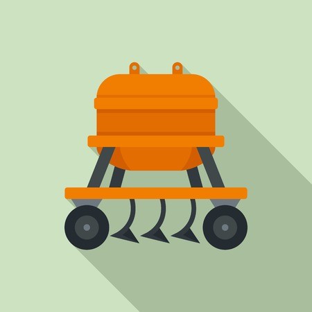 Agricultural equipment icon. Flat illustration of agricultural equipment vector icon for web design