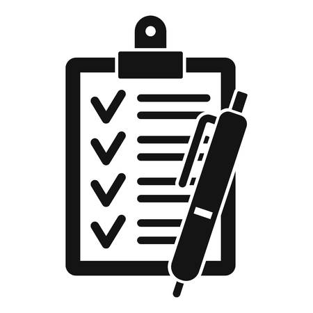 Checklist icon. Simple illustration of checklist vector icon for web design isolated on white background