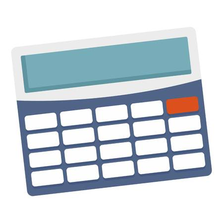 Office calculator icon. Flat illustration of office calculator vector icon for web design