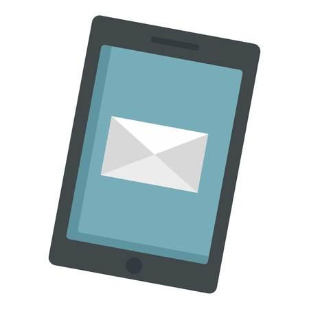 Modern tablet icon. Flat illustration of modern tablet vector icon for web design