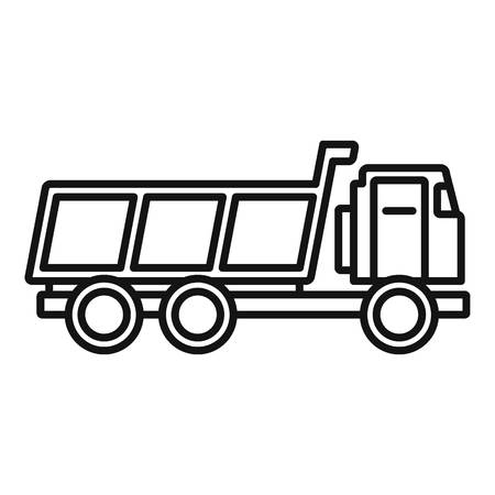 Loaded farm truck icon. Outline loaded farm truck vector icon for web design isolated on white background Ilustracja