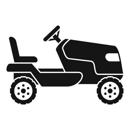 Tractor grass cutter icon. Simple illustration of tractor grass cutter vector icon for web design isolated on white background