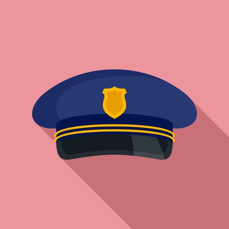 Postman cap icon. Flat illustration of postman cap vector icon for web design