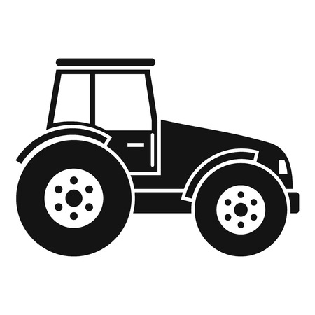 Modern tractor icon. Simple illustration of modern tractor vector icon for web design isolated on white background