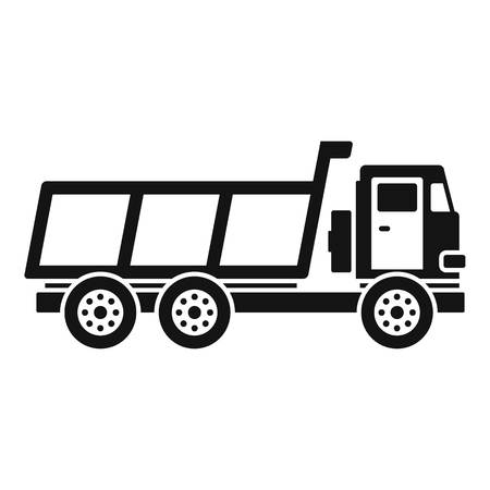 Loaded farm truck icon. Simple illustration of loaded farm truck vector icon for web design isolated on white background