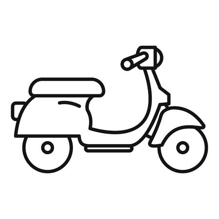 Scooter delivery icon. Outline scooter delivery vector icon for web design isolated on white background Illustration