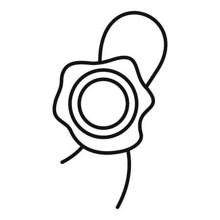 Icône de cire à cacheter. Contours de l'icône vecteur de cire à cacheter pour la conception web isolé sur fond blanc
