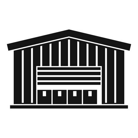 Cargo warehouse icon. Simple illustration of cargo warehouse vector icon for web design isolated on white background Banco de Imagens - 119490451