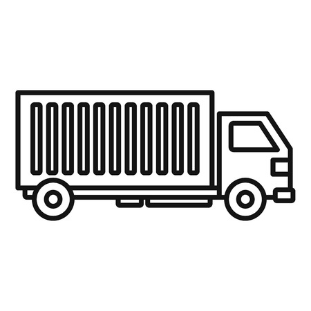 Cargo truck icon. Outline cargo truck vector icon for web design isolated on white background Ilustração