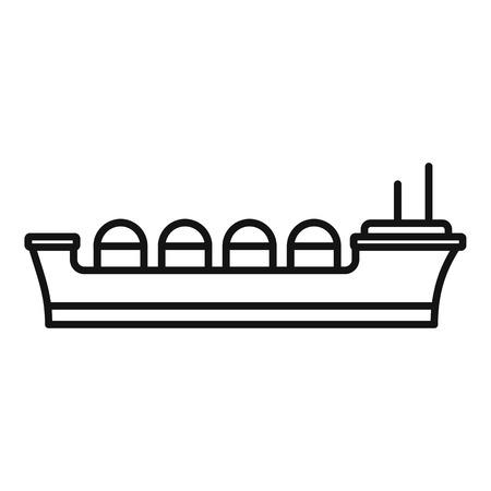 Oil tanker ship icon. Outline oil tanker ship vector icon for web design isolated on white background
