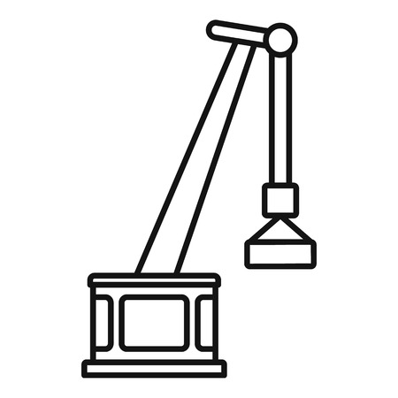 Port crane icon. Outline port crane vector icon for web design isolated on white background Illusztráció
