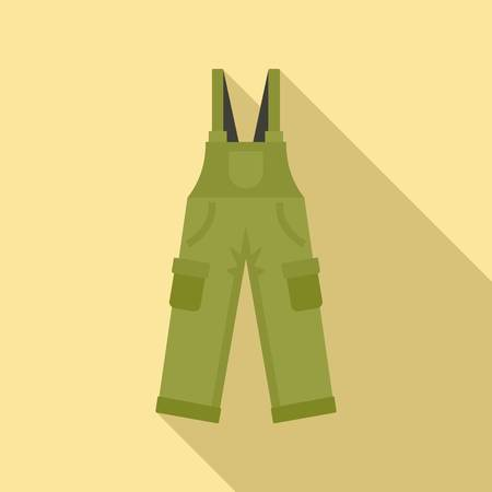 Hunter pants icon. Flat illustration of hunter pants vector icon for web design Çizim