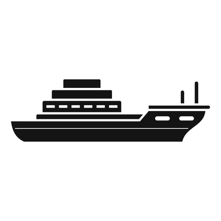 Cargo ship icon. Simple illustration of cargo ship vector icon for web design isolated on white background