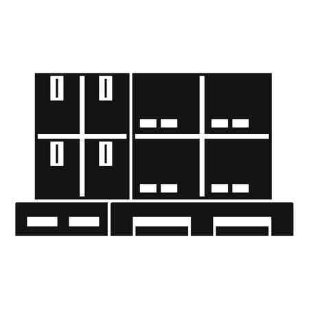 Box pallet icon. Simple illustration of box pallet vector icon for web design isolated on white background