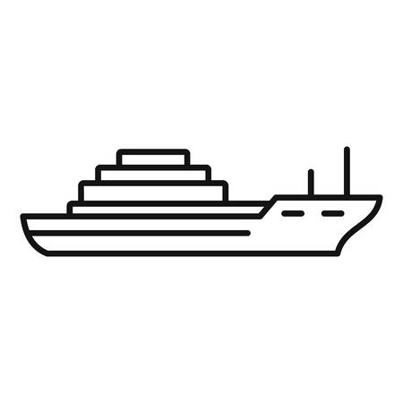 Cargo ship icon. Outline cargo ship vector icon for web design isolated on white background