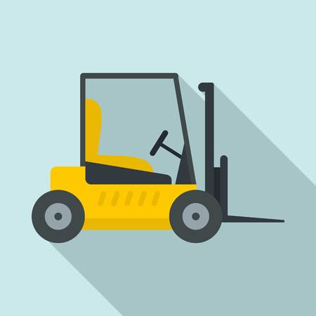 Forklift icon. Flat illustration of forklift vector icon for web design 일러스트