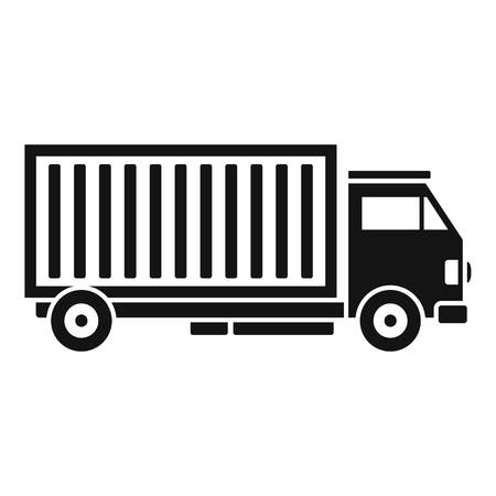 Cargo truck icon. Simple illustration of cargo truck vector icon for web design isolated on white background Ilustração