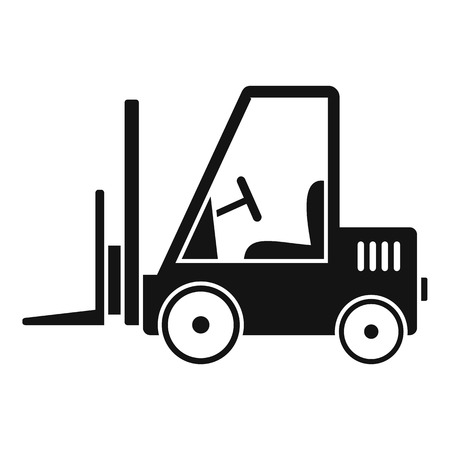 Port forklift icon. Simple illustration of port forklift vector icon for web design isolated on white background