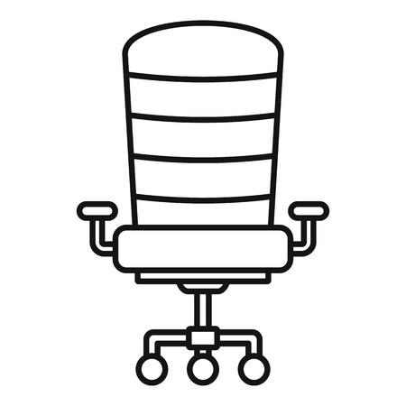 Modern desk chair icon. Outline modern desk chair vector icon for web design isolated on white background