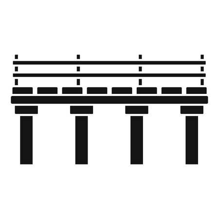 River bridge icon. Simple illustration of river bridge vector icon for web design isolated on white background
