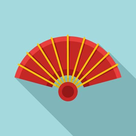 Open hand fan icon. Flat illustration of open hand fan vector icon for web design Stock Illustratie