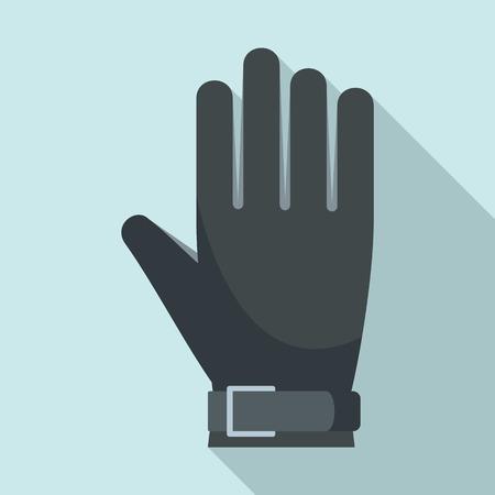 American football glove icon. Flat illustration of american football glove vector icon for web design