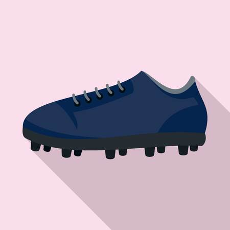 American football shoes icon. Flat illustration of american football shoes vector icon for web design