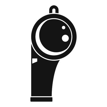 Lifeguard whistle icon. Simple illustration of lifeguard whistle vector icon for web design isolated on white background