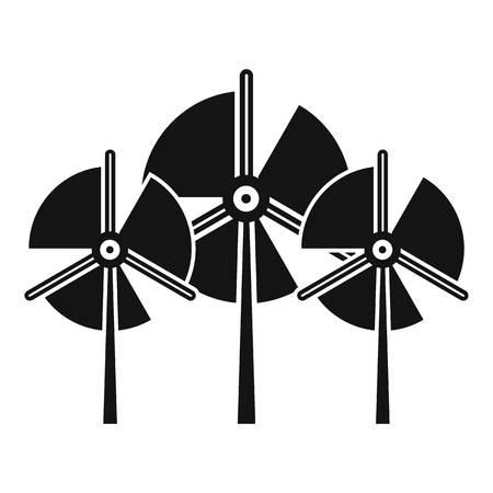 Propeller wind turbine icon, simple style Reklamní fotografie - 120069152