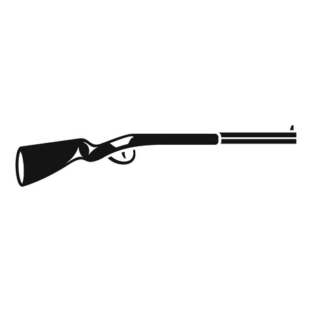 American hunting rifle icon, simple style