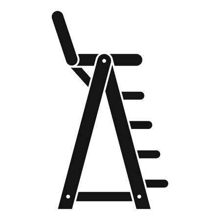 Lifeguard beach chair icon, simple style