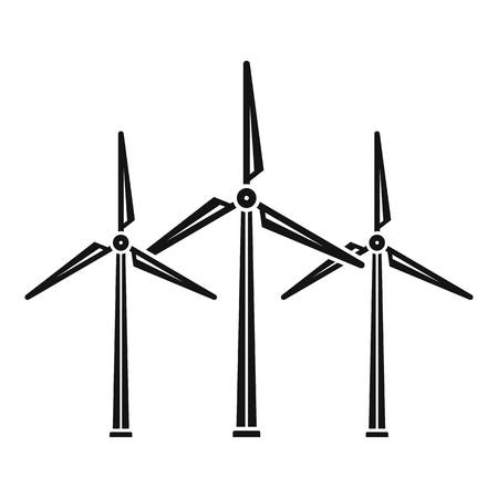 Wind turbine eco station icon. Simple illustration of wind turbine eco station vector icon for web design isolated on white background